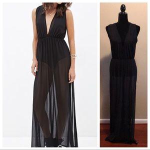 Forever 21 Black Mesh Dress w/ Bodysuit Underneath